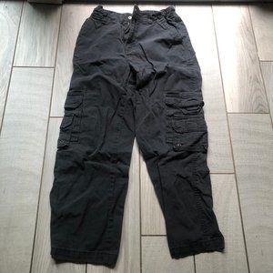 Gymboree boys 8 HUSKY cargo pants black